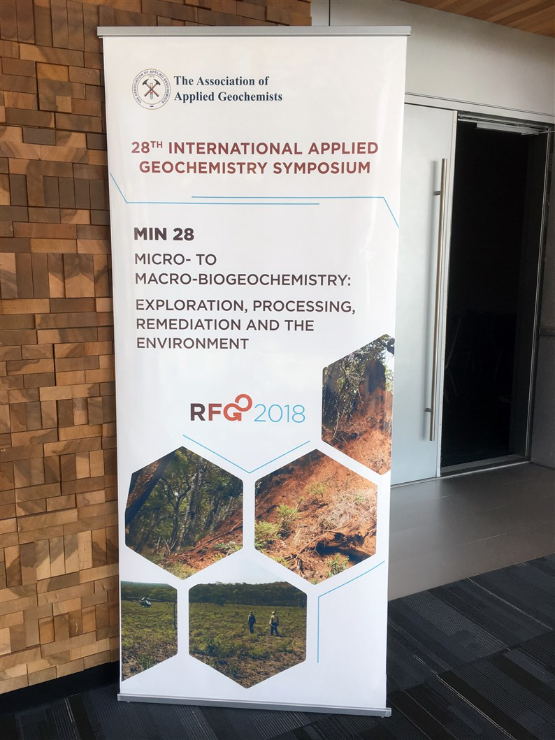 AAG banner at the RFG conference
